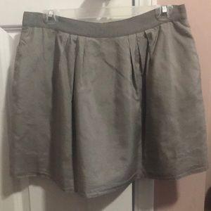Silver J Crew Skirt